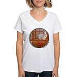 Bunny #3 Women's V-Neck T-Shirt