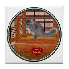 Chinchilla #1 Tile Coaster