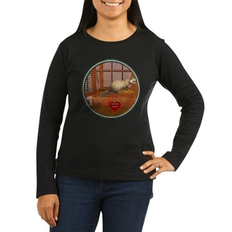 Ferret #1 Women's Long Sleeve Dark T-Shirt
