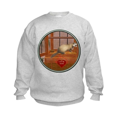 Ferret #1 Kids Sweatshirt
