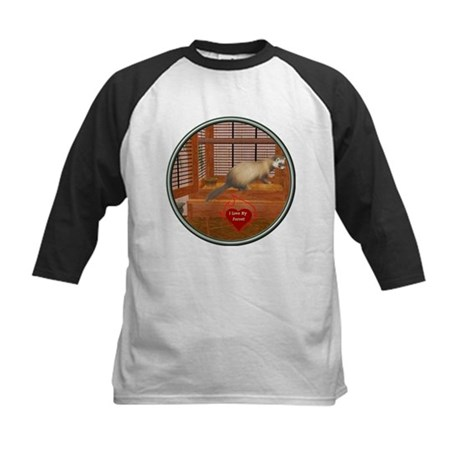 Ferret #1 Kids Baseball Jersey