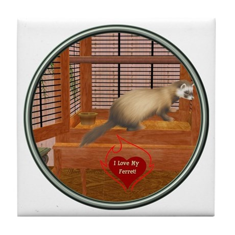 Ferret #1 Tile Coaster
