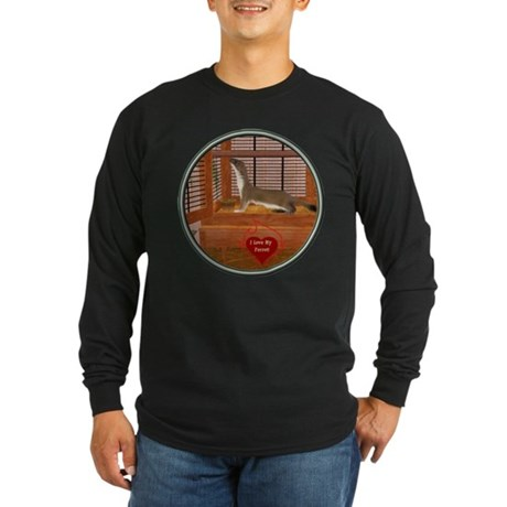 Ferret #2 Long Sleeve Dark T-Shirt