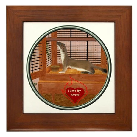 Ferret #2 Framed Tile