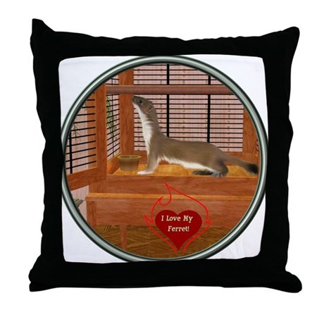 Ferret #2 Throw Pillow