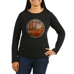 Gerbil Women's Long Sleeve Dark T-Shirt