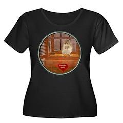 Gerbil Women's Plus Size Scoop Neck Dark T-Shirt