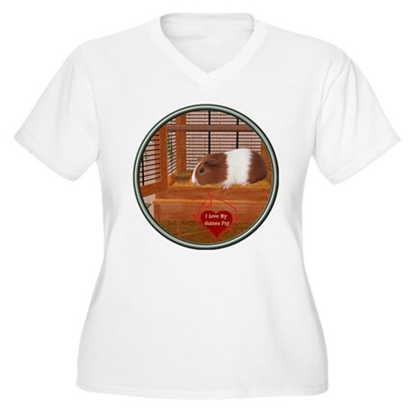 Guinea Pig #1 Women's Plus Size V-Neck T-Shirt
