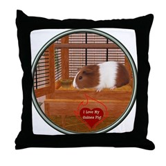 Guinea Pig #1 Throw Pillow
