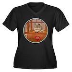 Guinea Pig #2 Women's Plus Size V-Neck Dark T-Shir