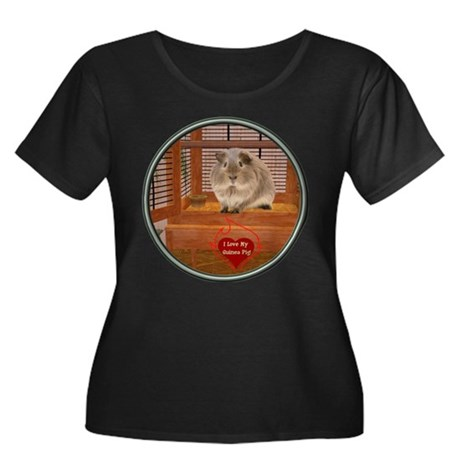 Guinea Pig #2 Women's Plus Size Scoop Neck Dark T-
