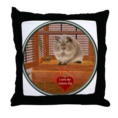 Guinea Pig #2 Throw Pillow