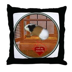 Guinea Pig #3 Throw Pillow