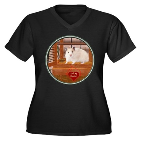 Hamster #1 Women's Plus Size V-Neck Dark T-Shirt