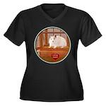 Hamster #1 Women's Plus Size V-Neck Dark T-Shirt
