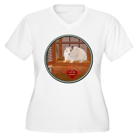 Hamster #1 Women's Plus Size V-Neck T-Shirt
