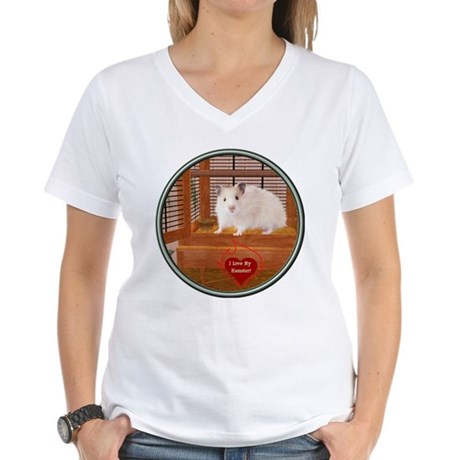 Hamster #1 Women's V-Neck T-Shirt