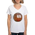Hamster #1 Women's V-Neck T-Shirt