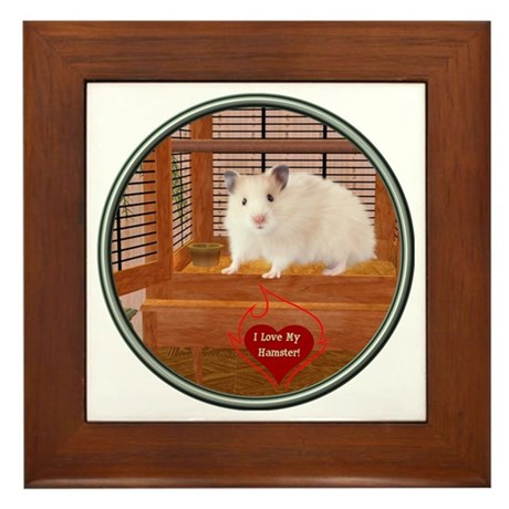 Hamster #1 Framed Tile