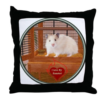 Hamster #1 Throw Pillow