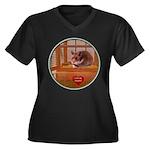 Hamster #2 Women's Plus Size V-Neck Dark T-Shirt
