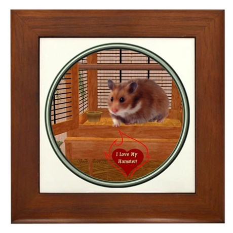 Hamster #2 Framed Tile