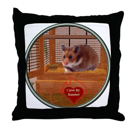 Hamster #2 Throw Pillow