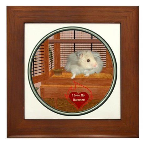 Hamster #3 Framed Tile