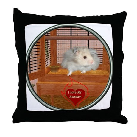 Hamster #3 Throw Pillow