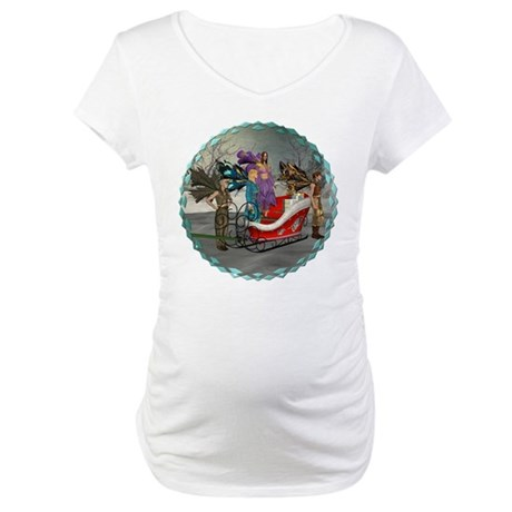 AKSC - Where's Santa? Maternity T-Shirt