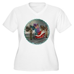 AKSC - Where's Santa? Women's Plus Size V-Neck T-S