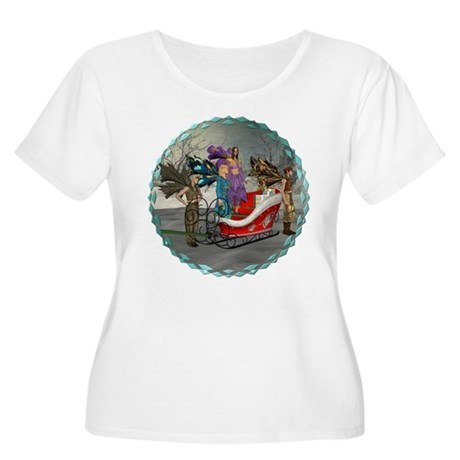 AKSC - Where's Santa? Women's Plus Size Scoop Neck