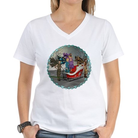 AKSC - Where's Santa? Women's V-Neck T-Shirt