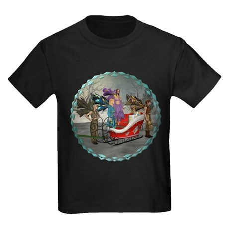 AKSC - Where's Santa? Kids Dark T-Shirt