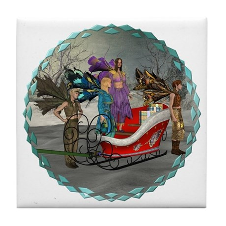 AKSC - Where's Santa? Tile Coaster