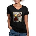Aladdin Women's V-Neck Dark T-Shirt
