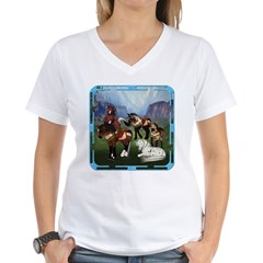 All the Pretty Little Horses Women's V-Neck T-Shir
