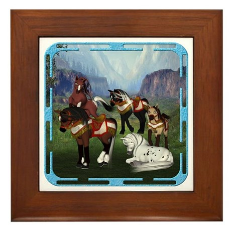 All the Pretty Little Horses Framed Tile