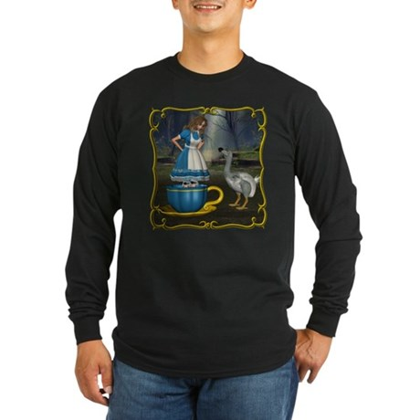 Alice in Wonderland Long Sleeve Dark T-Shirt