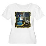 Alice in Wonderland Women's Plus Size Scoop Neck T
