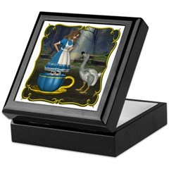 Alice in Wonderland Keepsake Box