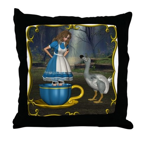 Alice in Wonderland Throw Pillow