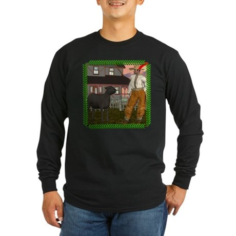 Black Sheep N Farmer Long Sleeve Dark T-Shirt