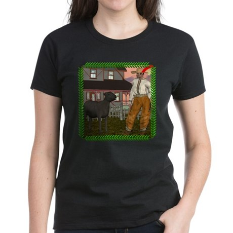 Black Sheep N Farmer Women's Dark T-Shirt