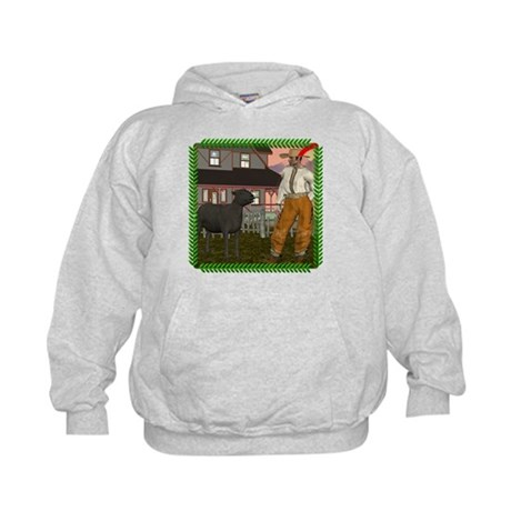 Black Sheep N Farmer Kids Hoodie