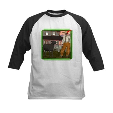 Black Sheep N Farmer Kids Baseball Jersey