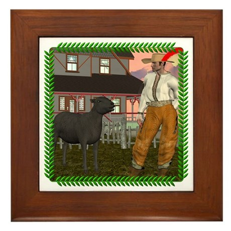Black Sheep N Farmer Framed Tile