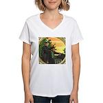 Black Sheep Thank You Women's V-Neck T-Shirt