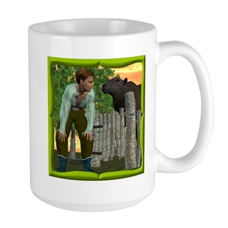 Black Sheep N Boy Large Mug