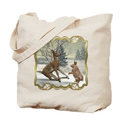 Bambi On Ice Tote Bag